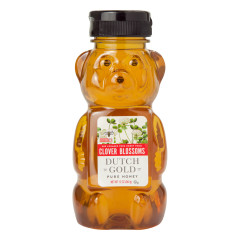 DUTCH GOLD HONEY FROM CLOVER BLOSSOMS 12 OZ BEAR BOTTLE