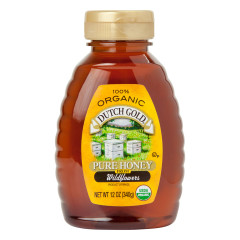 DUTCH GOLD ORGANIC HONEY FROM WILDFLOWERS 12 OZ BOTTLE
