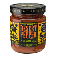 DESERT PEPPER PEACH MANGO SALSA 16 OZ JAR