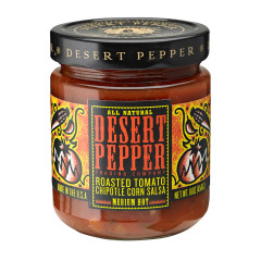 DESERT PEPPER ROASTED TOMATO CHIPOTLE CORN SALSA 16 OZ JAR