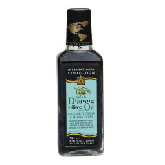 INTERNATIONAL COLLECTION BALSAMIC VINEGAR AND ITALIAN HERBS DIPPING OIL 8.45 OZ BOTTLE