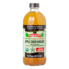 INTERNATIONAL COLLECTION ORGANIC APPLE CIDER VINEGAR 16 OZ BOTTLE