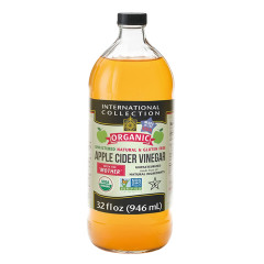 INTERNATIONAL COLLECTION ORGANIC APPLE CIDER VINEGAR 32 OZ BOTTLE