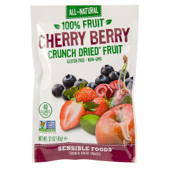 SENSIBLE FOODS CHERRY BERRY CRUNCH DRIED FRUIT 0.37 OZ BAG