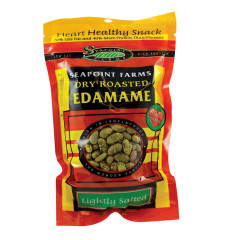 SEAPOINT FARMS LIGHTLY SALTED DRY ROASTED EDAMAME 4 OZ BAG