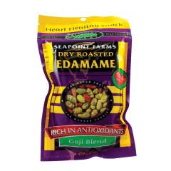 SEAPOINT FARMS GOJI BLEND DRY ROASTED EDAMAME 3.5 OZ BAG