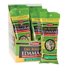 SEAPOINT FARMS 100 CALORIE WASABI DRY ROASTED EDAMAME 1.58 OZ BAG