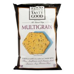 FOOD SHOULD TASTE GOOD MULTIGRAIN TORTILLA CHIPS 5.5 OZ BAG