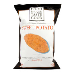 FOOD SHOULD TASTE GOOD SWEET POTATO TORTILLA CHIPS 5.5 OZ BAG