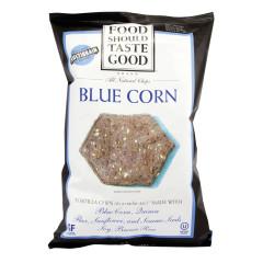 FOOD SHOULD TASTE GOOD BLUE CORN TORTILLA CHIPS 5.5 OZ BAG