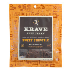 KRAVE SWEET CHIPOTLE BEEF JERKY 2.7 OZ BAG