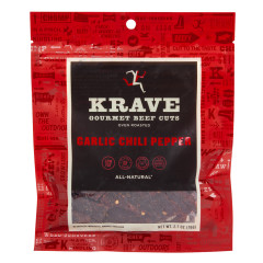 KRAVE GARLIC CHILI PEPPER BEEF JERKY 2.7 OZ BAG