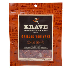 KRAVE GRILLED SWEET TERIYAKI PORK JERKY 2.7 OZ BAG