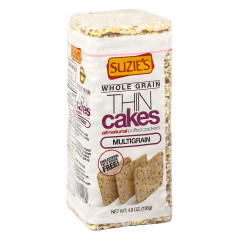 SUZIE'S MULTIGRAIN THIN CAKES 4.9 OZ