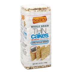 SUZIE'S WHOLE GRAIN SPELT WITH FLAX SEEDS THIN CAKES 5.5 OZ