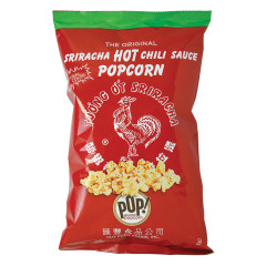 POP! GOURMET HOT SRIRACHA CHILI POPCORN 4.5 OZ BAG
