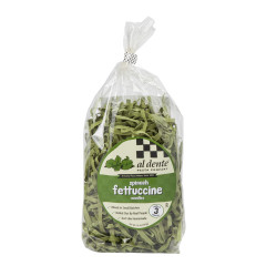 AL DENTE SPINACH FETTUCCINE PASTA 12 OZ BAG