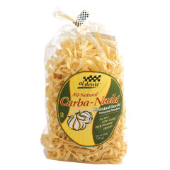 AL DENTE CARBA NADA ROASTED GARLIC FETTUCINE PASTA 10 OZ BAG