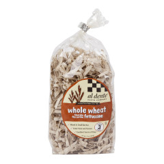 AL DENTE WHOLE WHEAT FETTUCCINE PASTA 12 OZ BAG
