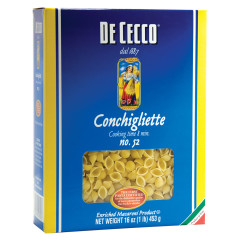 DECECCO SMALL SHELL PASTA 16 OZ BOX # 52