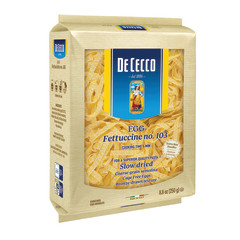 DECECCO FETTUCCINE EGG SPECIAL CUT PASTA 8.8 OZ BOX # 103