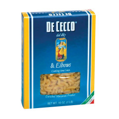 DECECCO ELBOW PASTA 16 OZ BOX # 81