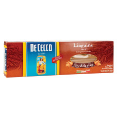 DECECCO 100 PERCENT WHOLE WHEAT LINGUINE PASTA 13.25 OZ BOX