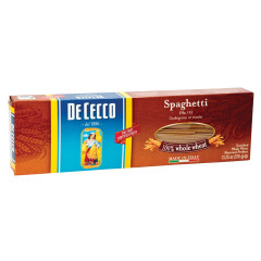 DECECCO 100 PERCENT WHOLE WHEAT SPAGHETTI PASTA 13.25 OZ BOX