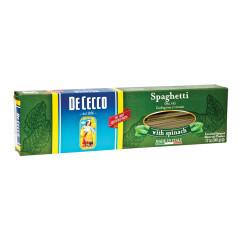 DECECCO SPAGHETTI WITH SPINACH PASTA 12 OZ BOX