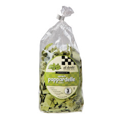 AL DENTE SPINACH PAPPARDELLE PASTA 12 OZ BAG