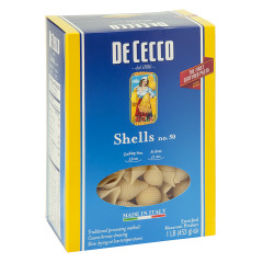 DECECCO SHELLS PASTA 16 OZ BOX # 50