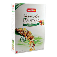 FAMILIA SWISS BALANCE NO SUGAR ADDED MUESLI 21 OZ BOX