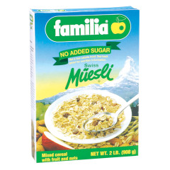 FAMILIA NO SUGAR ADDED MUESLI 32 OZ BOX #01214