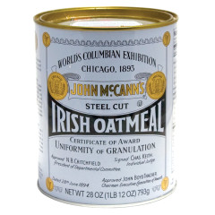 MCCANN'S STEEL CUT IRISH OATMEAL 28 OZ TIN