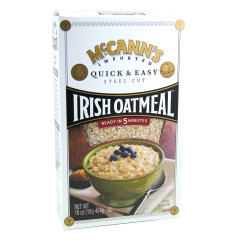 MCCANN'S QUICK AND EASY STEEL CUT IRISH OATMEAL 16 OZ BOX