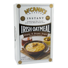 MCCANN'S INSTANT IRISH OATMEAL MAPLE AND BROWN SUGAR 15 OZ BOX