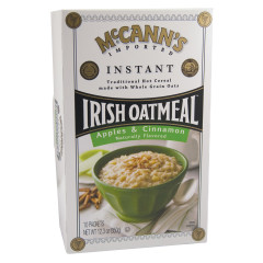 MCCANN'S INSTANT IRISH OATMEAL APPLE CINNAMON 12.5 OZ BOX