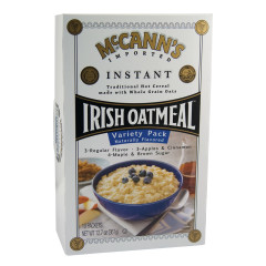 MCCANN'S INSTANT IRISH OATMEAL VARIETY PACK 12.75 OZ BOX