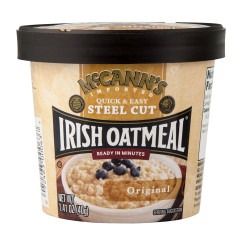 MCCANN'S STEEL CUT INSTANT IRISH OATMEAL ORIGINAL 1.41 OZ CUP
