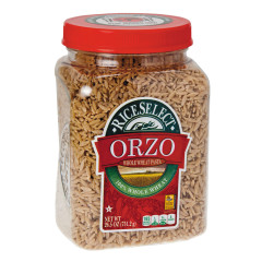 TEXMATI WHOLE WHEAT ORZO PASTA 26.5 OZ JAR