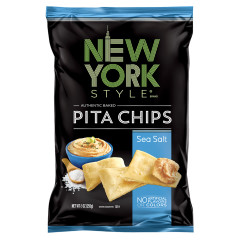 NEW YORK STYLE SEA SALT PITA CHIPS 8 OZ BAG