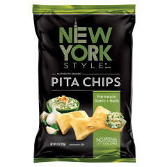 NEW YORK STYLE PARMESAN GARLIC AND HERB PITA CHIPS 8 OZ BAG
