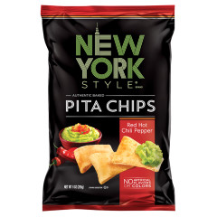 NEW YORK STYLE RED HOT CHILI PEPPER PITA CHIPS 8 OZ BAG