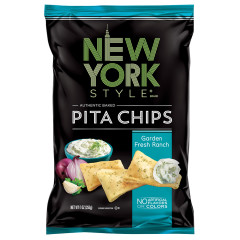 NEW YORK STYLE GARDEN FRESH RANCH PITA CHIPS 8 OZ BAG