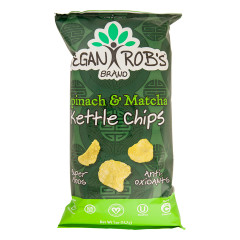 VEGAN ROB'S SPINACH AND MATCHA KETTLE CHIPS 5 OZ BAG
