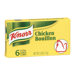 KNORR CHICKEN BOUILLON CUBE 2.5 OZ BOX