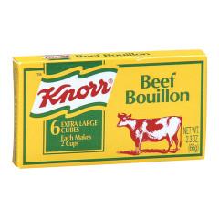 KNORR BEEF BOUILLON CUBES 2.33 OZ BOX