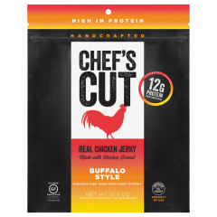 CHEF'S CUT BUFFALO STYLE CHICKEN JERKY 2.5 OZ BAG