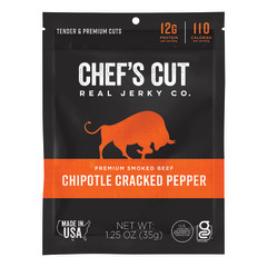 CHEF'S CUT CHIPOTLE CRACKED PEPPER STEAK JERKY 1.25 OZ BAG