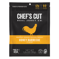 CHEF'S CUT HONEY BBQ CHICKEN JERKY 1.25 OZ BAG